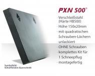 SchürfleistKit Verschleißstahl 150x20mm (X2H5U.N) UNLACKIERT | OHNE Schrauben