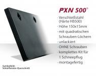 SchürfleistKit Verschleißstahl 150x15mm (X5H5U.N) UNLACKIERT | OHNE Schrauben